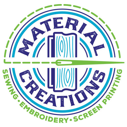 Material Creations Logo - Sewing Embroidery Screen Printing